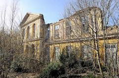 Ruine vom alten Moorbad / Stahlbad  in Bad Doberan -  erbaut 1825 im Baustil des Klassizismus, Architekt Carl Theodor Stein.
