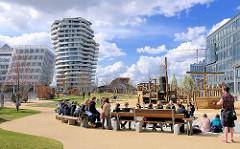 Kinderspielplatz Grasbrookpark in der Hamburger Hafencity.