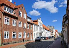 Historische Architektur + Neubau - Prinzenstrasse in Rendsburg.