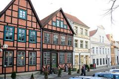 Histoirsche Archtitektur in der Landeshauptstadt Schwerin, Schlachterstrasse.