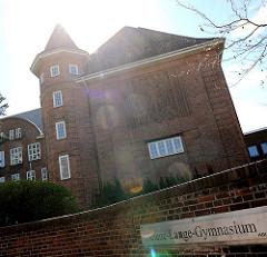 Schulgebäude Helene Lange Gymnasium in Rendsburg.