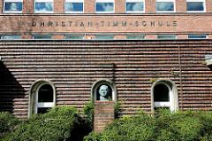 Backsteinarchitektur - Christian Timm Schule in Rendsburg - erbaut 1929; benannt nach dem Rendsburger Bürgermeister.