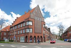Mehrstöckige Wohnhäuser - Backsteinarchitektur in Rendsburg.
