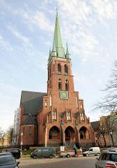 Heiligen Geist Kirche, Hansestadt Rostock - neogotische Kirche, erbaut 1908; Architekt Johannes Vollmer.