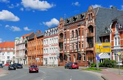 Mehrstöckige Wohnhäuser - Gründerzeitarchitektur in Rendsburg.