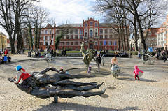 Brunnen der Lebensfreude am Universitätsplatz Hansestadt Rostock.