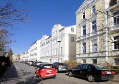 Gründerzeitarchitektur - Wohnhäuser in der Thomas Mann Strasse, Rostock.