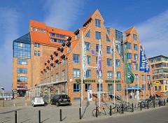 Ehem. Speicher am Stadthafen Rostock - modernisiert, wohnen am Hafen.