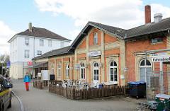 Bahnhofsgebäude Rendsburger Bahnhof; die Bahnlinie nach Neumünster wurde 1845 eröffnet.
