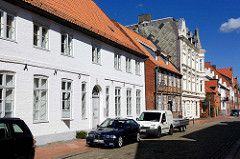 Historische Architektur in der Prinzenstrasse von Rendsburg - ehem. Pastorat der Christkirche, erbaut 1754..