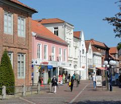 Geschäfte in der Königstrasse in Eutin.