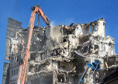 Abriss der Esso-Häuser in Hamburg St. Pauli.