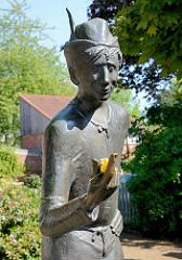 Bronzefigur Denkmal DUMM HANS - de plietsche Buurnjung ut Wissers Geschichten - Bildhauer Karlheinz Goedtke