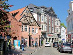Strasse Am Rosengarten in Eutin - Fachwerkgebäude, Gründerzeitarchitektur.