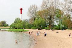 Elbstrand in Kollmar - Leuchtfeuer, Leuchtturm.
