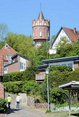 Wasserturm in Eutin; erbaut 1909 - 38m hoch; ein Wasserbehälter mit dem Volumen von 250 000 Litern.