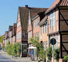 Fachwerkhäuser - Lübecker Strasse in der Kreisstadt Eutin.