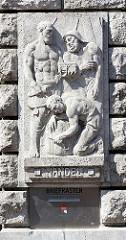 Reliefdekor HANDEL - Händler und Seemann.