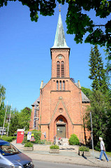 St. Marien Kirche in Eutin, Backsteinarchitektur 1889 erbaut.
