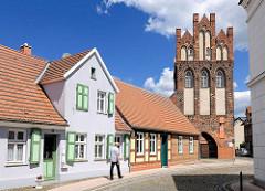 Steintorturm - Steintor, eines der Wahrzeichen von Wittenberge - ursprünglich 1297 erbaut, Wiederaufbau um 1450.