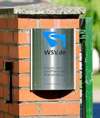 Schild Wasser und Schifffahrtsamt Brandenburg - WSV.de.