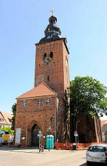 Stadtkirche St. Laurentius in Havelberg; gotischer Backsteinbau; Baubeginn um 1300.