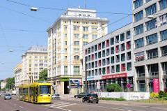 Kontorhäuser, Geschäftshäuser in Magdeburg;  Baustil des Sozialistischen Klassizismus.