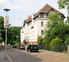 Mehrstöckiges Wohngebäude auf dem Grossen Werder in Magdeburg.