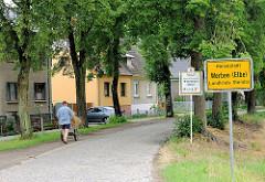 Ortseingang / Ortschild Hansestadt Werben (Elbe) / Landkreis Stendal.