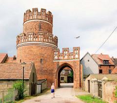 Historische Stadttor und Turm der Stadtmauer - Hansestadt Werben.