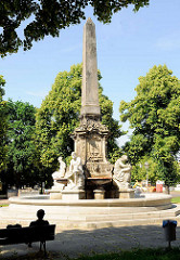 Hasselbachbrunnen in Magdeburg - Erinerung an den Magdeburger Bürgermeister Carl Gustav Friedrich Hasselbach ( 1809 - 1882).