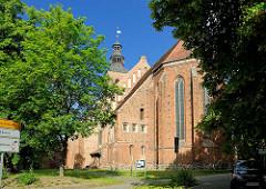 Marienkirche in der Hansestadt Gardelegen; Backsteingotik - Ursprungsbau aus dem 12. Jahrhundert.
