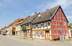 Historische Architektur in der Hansestadt Seehausen - alte Fachwerkhäuser.