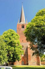 Petrikirche  von Stendal, eine ätesten erhaltenen Kirchen der Stadt; Ursprungsbau um 1300.