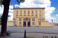 Bahnhof Wittenberge - Empfangsgebäude; erbaut 1846.