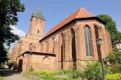 Nikolaikirche der Hansestadt Gardelegen; Baubeginn ca. 1200; durch Bombenangriff 1945 teilw. zerstört.