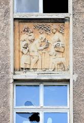 Stuckdekor - Baustil Historismus, Wohnhaus in Wittenberge.