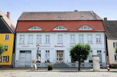 Gebäude Kaufhaus am Markt der Hansestadt Werben.