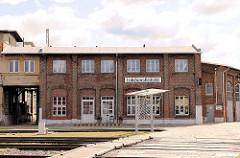 Funktionsgebäude / Lokdienstleistung am Bahnhof Wittenberge.