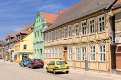 Historische Architektur Hansestadt Osterburg - Kreismuseum; denkmalgeschütztes Fachwerkhaus.