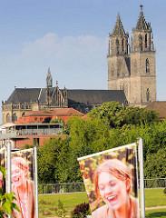 Dom zu Magdeburg  St. Mauritius und Katharina; ehem. Kathedrale des Erzbistums Magdeburg - Wahrzeichen der Stadt.