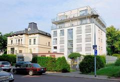 Alt + Neu - Historische Villa, Gründerzeit; moderner Wohnblock - Grosser Werder Magdeburg.