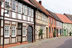 Restaurierte historische Fachwerkhäuser - Hansestadt Werben.