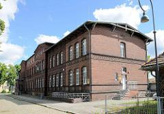 Verwaltungsgebäude - Backsteingebäude am Bahnhof Wittenberge.
