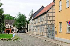 Fachwerkgebäude an der Probstei von Salzwedel.