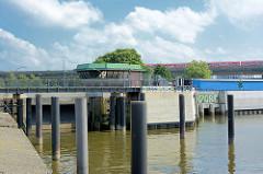Brandshofer Schleuse in Hamburg Rothenburgsort - Verbindung von dem Oberhafenkanal / Norderelbe zur Bille.