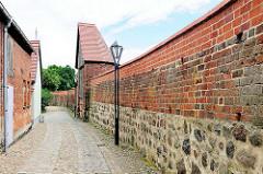 Historische Stadtmauer der Hansestadt Kyritz.
