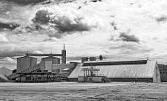 Stärkefabrik in Kyritz - Emslandstärke; ca.  270.000 Tonnen Kartoffeln werden dorft von etwa 100 Beschäftigten zu 60.000 Tonnen Kartoffelstärke verarbeitet.