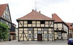 Historische Fachwerkhäuser - Architektur in der Hansestadt Salzwedel.