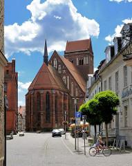St. Jakobikirche in Perleberg - Ursprungsbau aus dem12. Jahrhundert - Veränderungen in den 1850er Jahren.
